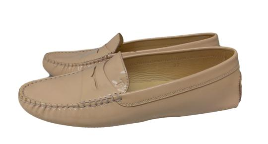 Tod's Luxury Fascinante Patent Leather Nice Studded Beige Flats Image 1