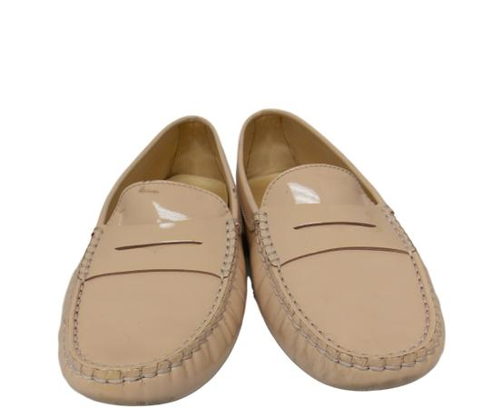 Tod's Luxury Fascinante Patent Leather Nice Studded Beige Flats Image 3
