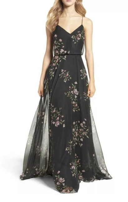 Item - Black/Cinnamon Rose Inesse Chiffon Bridesmaids Gown Long Formal Dress Size 10 (M)