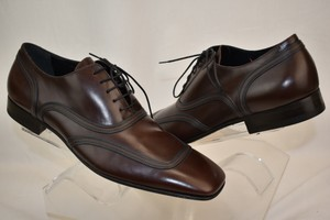 Dolce&Gabbana Brown Two Tone Dress Lace-up Oxford 42.5 9.5 Italy Shoes