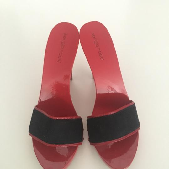 Sergio Rossi red and black Sandals Image 2