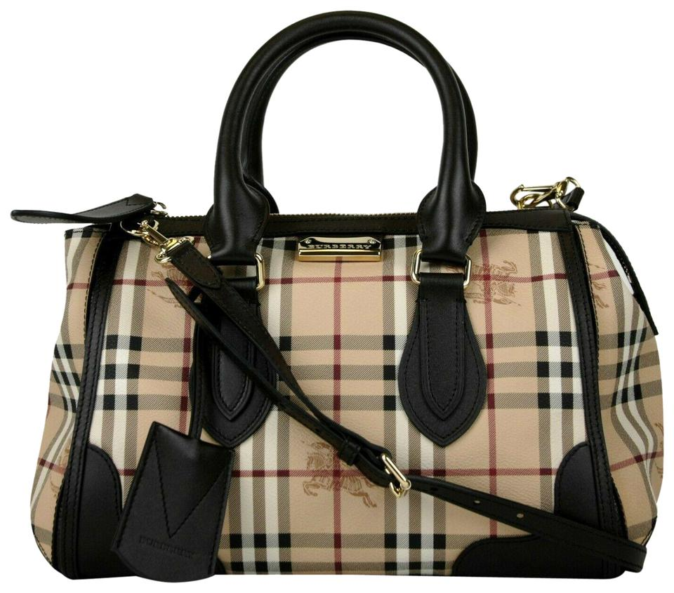 6433265eda53 Burberry Checkered Haymarket Gladstone 3870759 Beige Coated Canvas ...