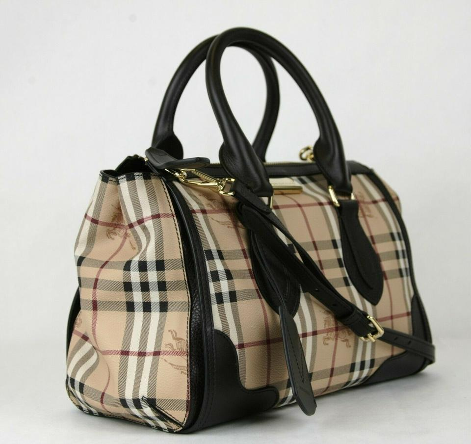 4bfbb389f96b Burberry Checkered Haymarket Gladstone 3870759 Beige Coated Canvas Tote -  Tradesy