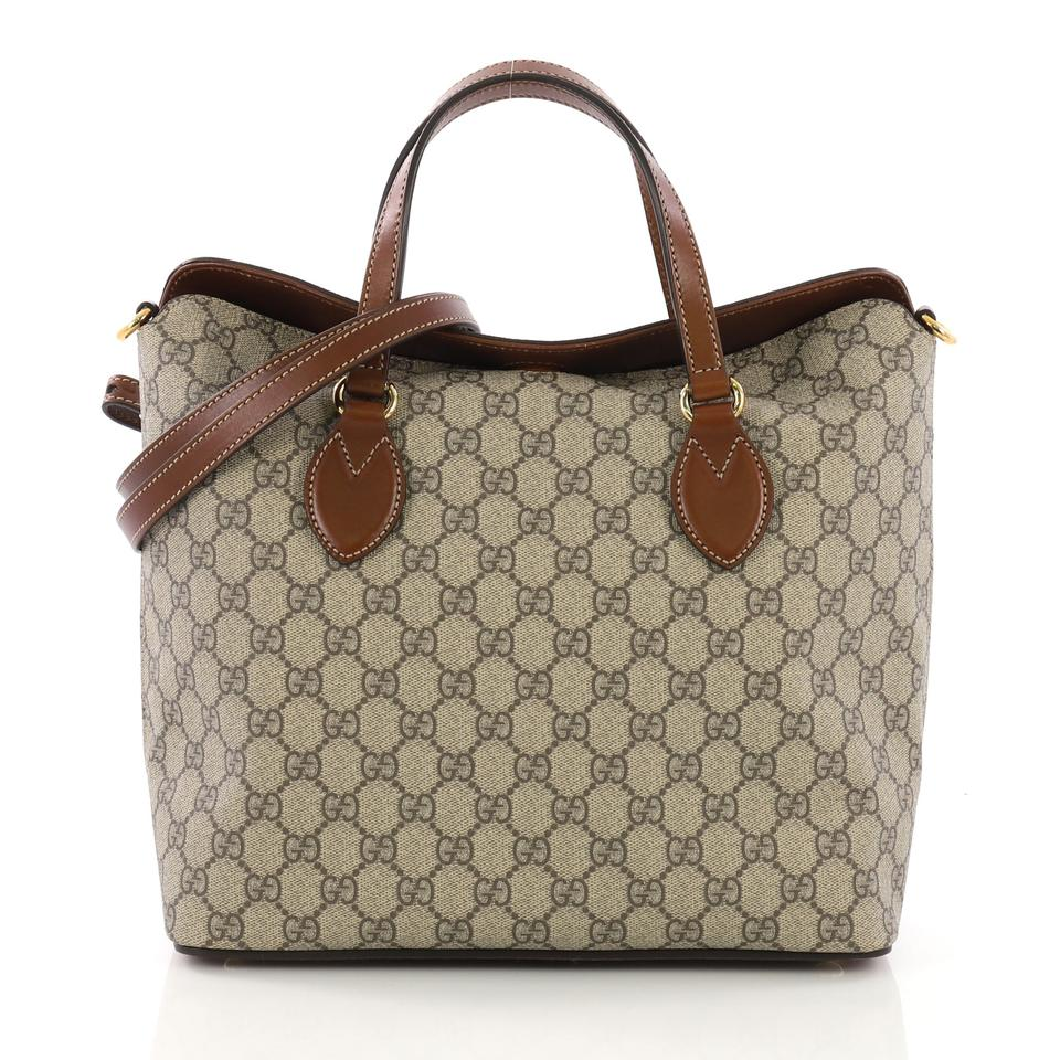 a1fd44bac4d Gucci Gg Supreme Signature Monogram Fold Over Beige Canvas Tote ...