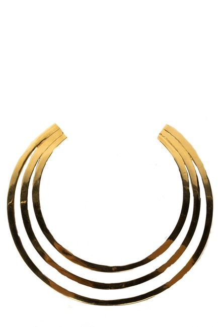 Item - Gold Three Ring Collar Necklace