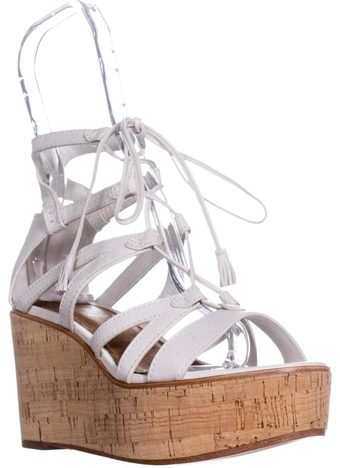 5f5c9a7b922 Frye White Heather Gladiator Lace Wedges Size US 7.5 Regular (M, B) 53% off  retail