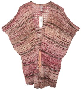 Chico's Space Dye Knit Cotton Tie Front Cardigan