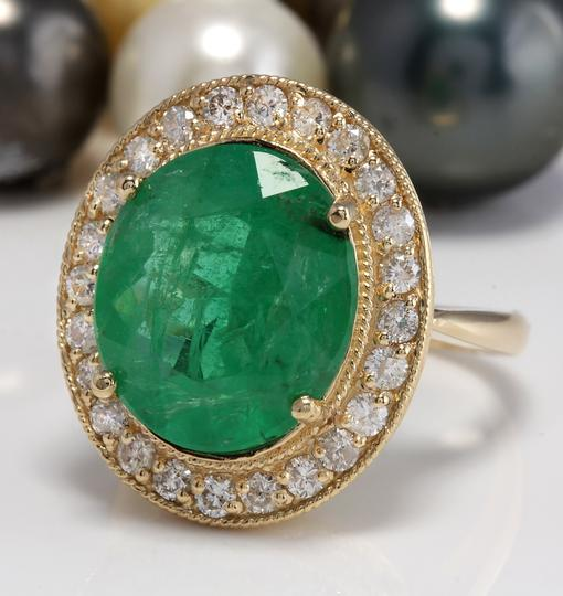 Other 5.35CT Natural Emerald and Diamonds in 14K Solid White Gold Ring Image 1