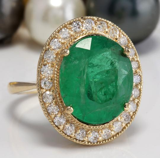 Other 5.35CT Natural Emerald and Diamonds in 14K Solid White Gold Ring Image 2