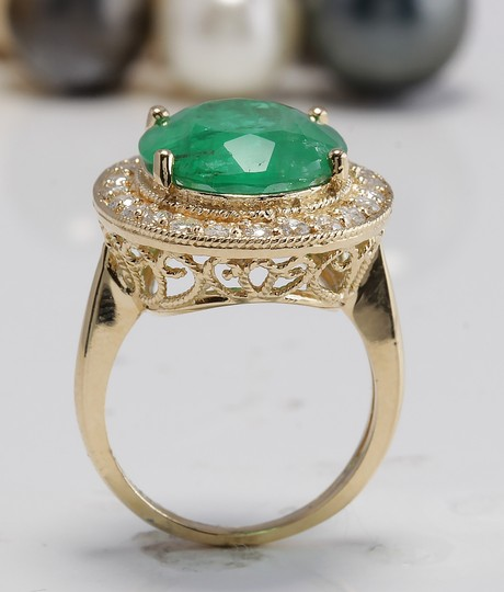 Other 5.35CT Natural Emerald and Diamonds in 14K Solid White Gold Ring Image 5