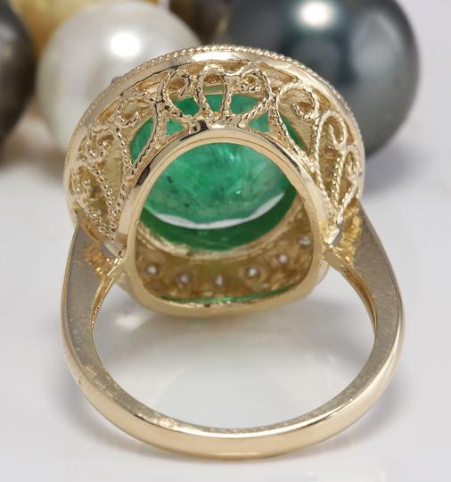 Other 5.35CT Natural Emerald and Diamonds in 14K Solid White Gold Ring Image 7