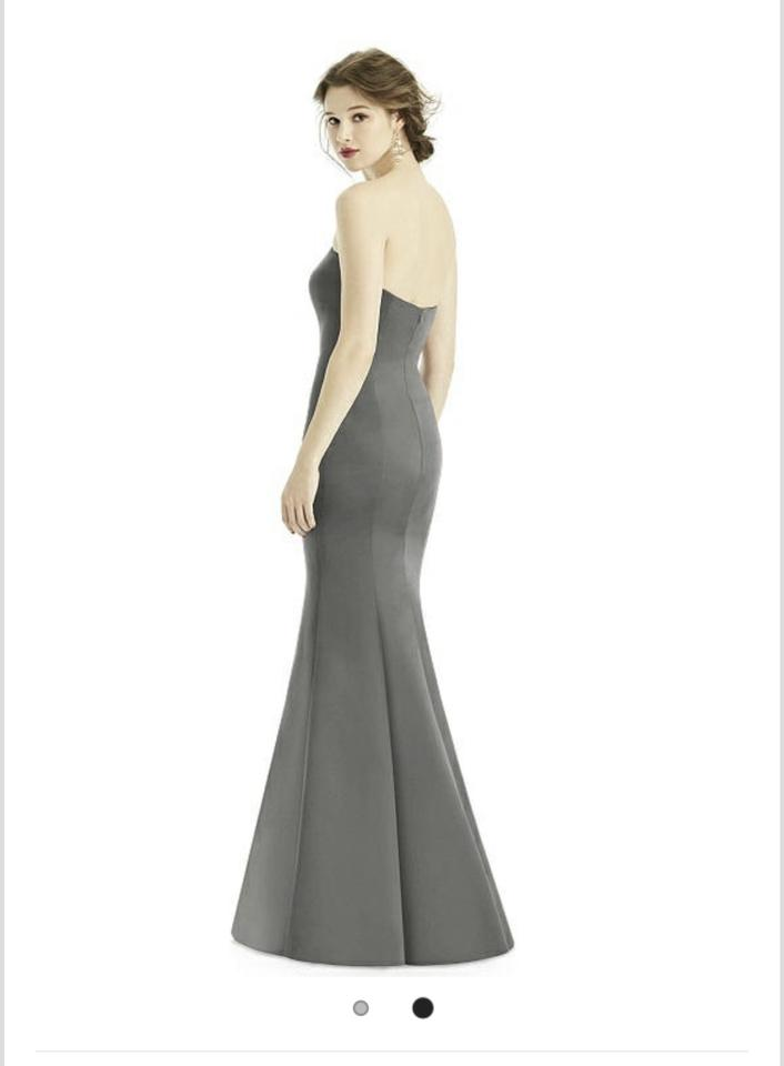 0e79dafcca After Six Charcoal Gray Duchess Satin 1500 Formal Bridesmaid Mob Dress Size  4 (S. 1234