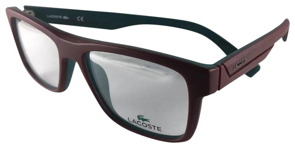 e1b9da46d50 Lacoste New LACOSTE Eyeglasses L2792 615 Stylish Matte Red On Green Frame  53-1 Image ...