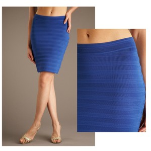 00952f9d9 Yigal Azrouël Knit Fitted Bandage Cobalt Rayon Daphne Browell Skirt Blue