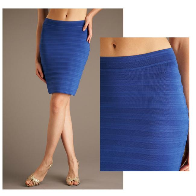 Preload https://img-static.tradesy.com/item/24876802/yigal-azrouel-blue-knit-fitted-bandage-skirt-size-8-m-29-30-0-0-650-650.jpg