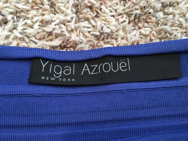 Yigal Azrouël Knit Fitted Bandage Cobalt Rayon Daphne Browell Skirt Blue Image 2