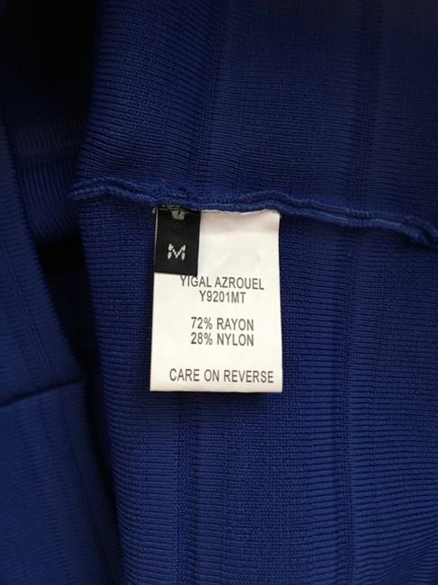Yigal Azrouël Knit Fitted Bandage Cobalt Rayon Daphne Browell Skirt Blue Image 3