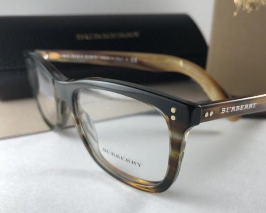 Burberry New BURBERRY Eyeglasses B 2212 3551 Brown Amber Horn Frame 54-18 140 Image 4
