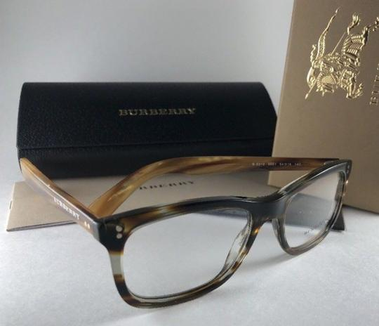 Burberry New BURBERRY Eyeglasses B 2212 3551 Brown Amber Horn Frame 54-18 140 Image 6
