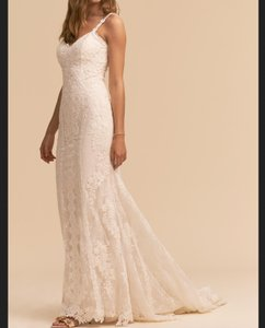 BHLDN Ivory Lace with Polyester Lining J'adore Gown Feminine Wedding Dress Size 10 (M)