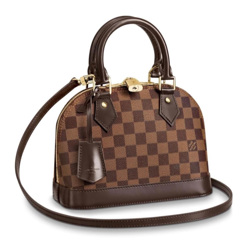 efb040377b49 Louis Vuitton Alma Bb Damier Ebene Red Canvas Cross Body Bag - Tradesy