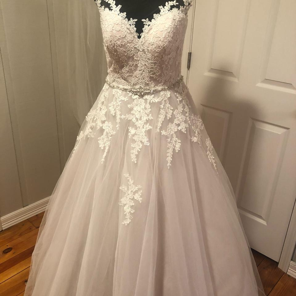 Maggie Sottero Lace Wedding Gown: Maggie Sottero Ivory Over Antique Blush Lace/Tulle Olivia