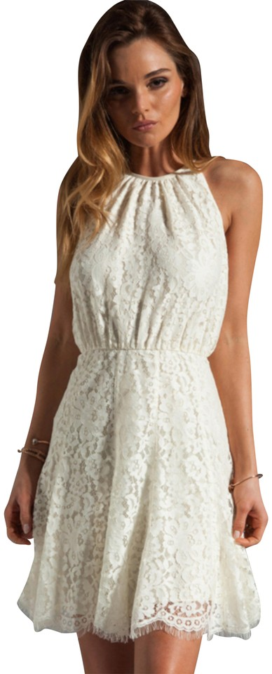 Juicy Couture Cream Scallop Lace Short Night Out Dress Size 4 S 73 Off Retail