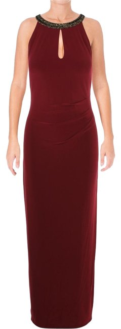 Item - Red Womens Danae Halter Evening Gown Long Formal Dress Size 10 (M)