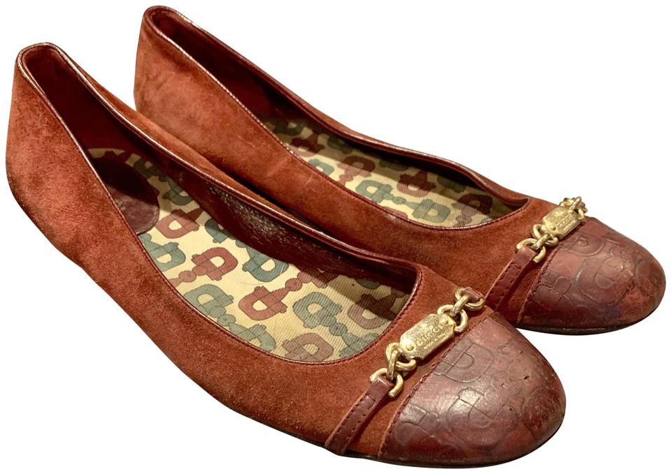 a82317449b2 Gucci Id Bracelet Horse Bit Suede Leather Ballerina Rusty Red   Burgundy  Flats Image 0 ...