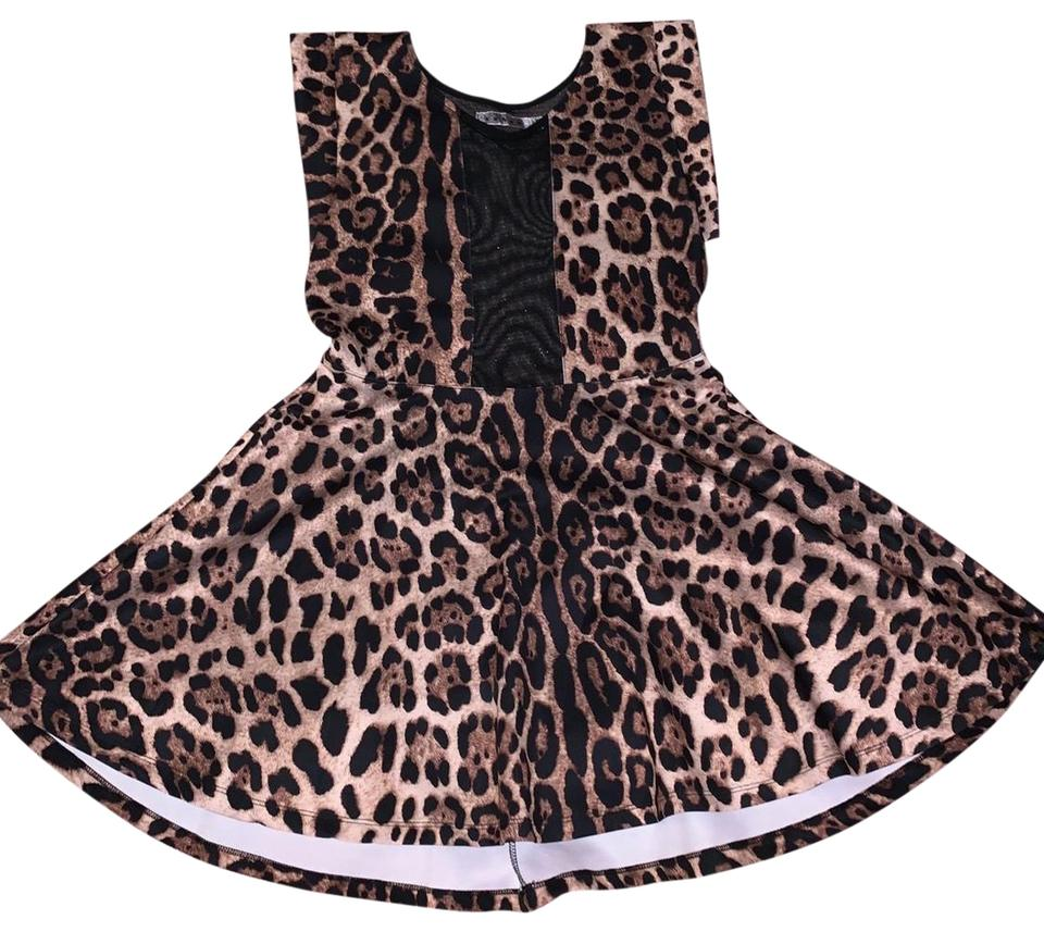 4447a4ec3b30 Rehab Leopard Short Night Out Dress Size 12 (L) - Tradesy