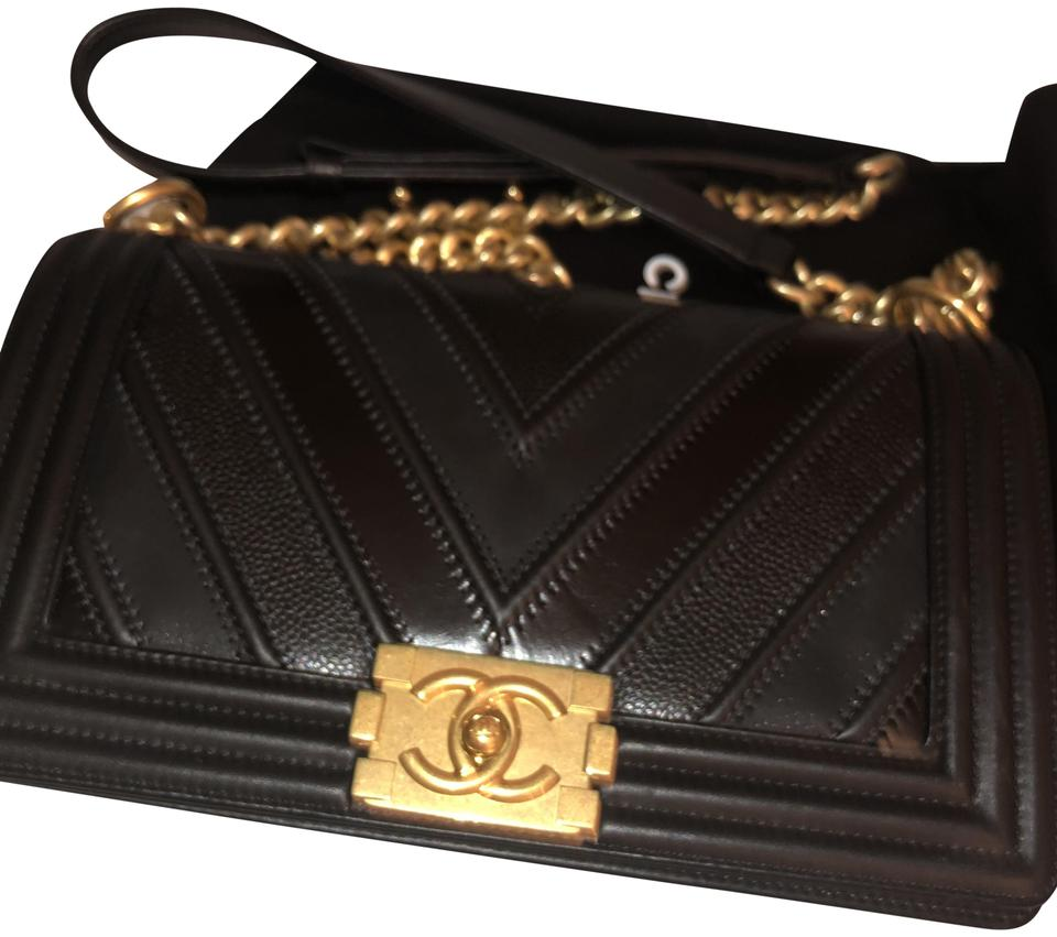 da35d98f9ed6 Chanel Boy Chevon Mix Medium Blk Leather Shoulder Bag - Tradesy