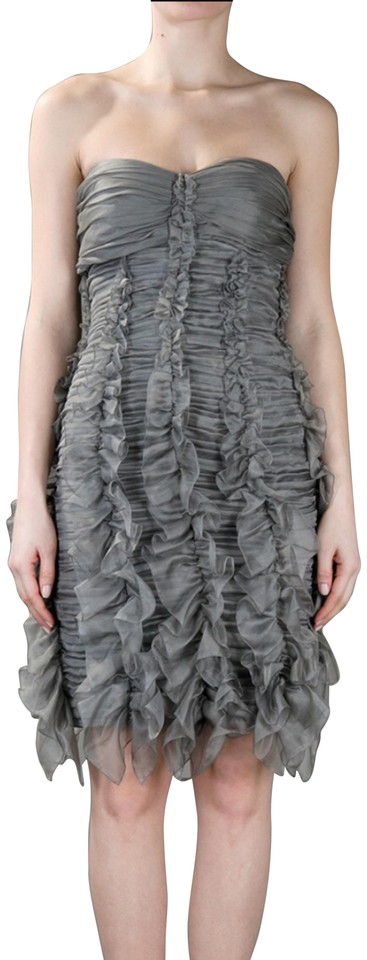 73457c90e150 Burberry Prorsum Gray Ruffles Mid-length Cocktail Dress Size 10 (M ...