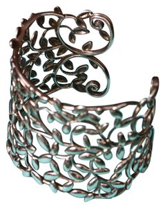 Tiffany & Co. Signed Paloma Picasso Olive Leaf Olive Branch Wide Cuff