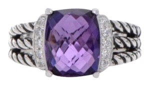 David Yurman David Yurman * Wheaton Amethyst Diamond Ring