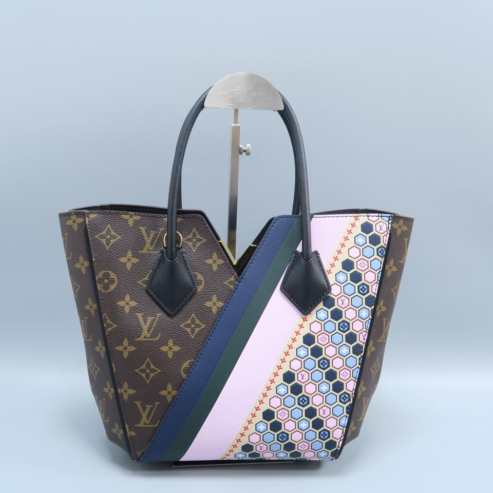 d594f8cc0bb Louis Vuitton Kimono Pm Monogram Limited Canvas Brown Calfskin Leather Tote