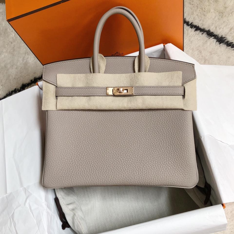 57e3f2cd6894 Hermès Hermesbirkin Hermesbirkin25 Hermesb25 Tote in Gris Tourterelle Image  9. 12345678910