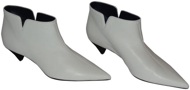 Céline White Optic Lambskin Leather Ankle Low 45 Boots/Booties Size EU 40 (Approx. US 10) Regular (M, B) Céline White Optic Lambskin Leather Ankle Low 45 Boots/Booties Size EU 40 (Approx. US 10) Regular (M, B) Image 1