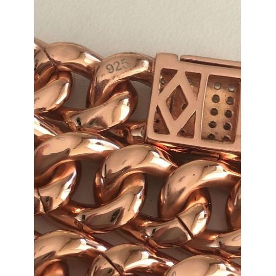 Harlembling 14k Rose Gold Over Solid 925 Silver Men's Miami Cuban Link Chain 10mm Image 6