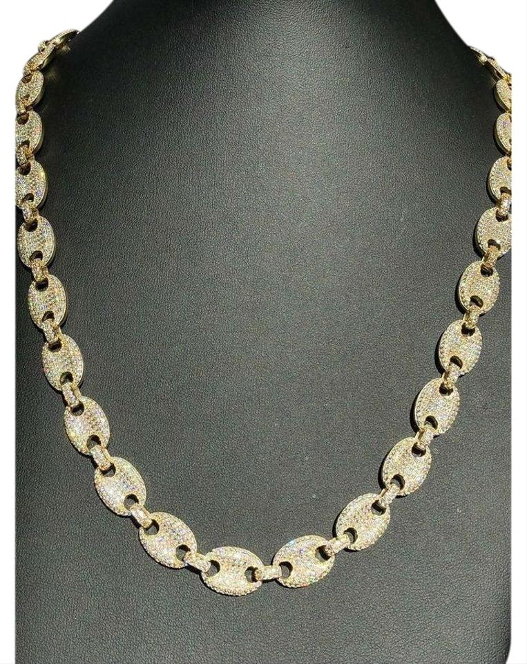c96c0ec2f Harlembling Men's Mariner Gucci Link Chain ICY Lab Diamond 14k Gold Over  Solid 925 Image 0 ...