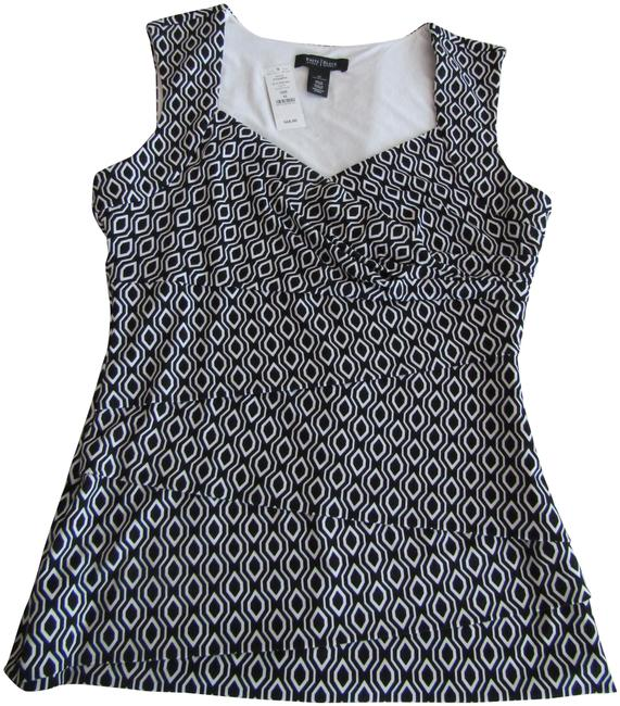 Item - Size M Black/White Layered Sleeveless Blouse Black/White Top