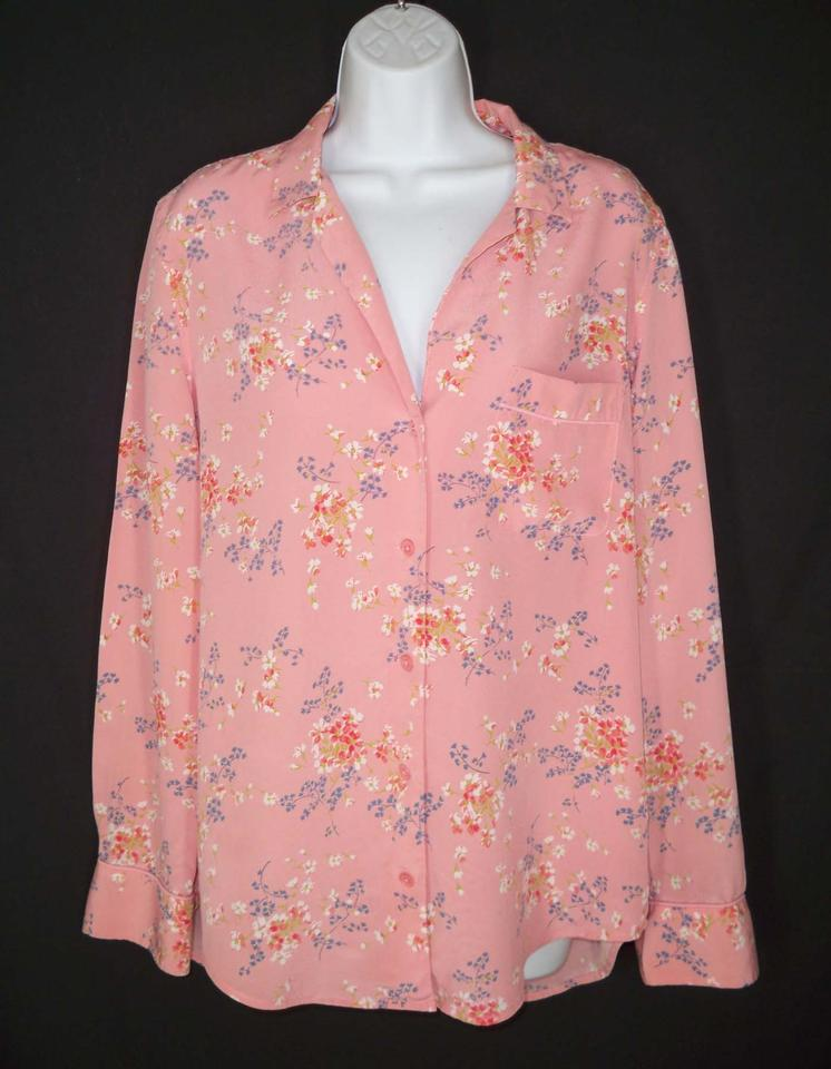 e946b17e3e4d4 Equipment Pink Keira Silk Blouse Button-down Top Size 12 (L) - Tradesy
