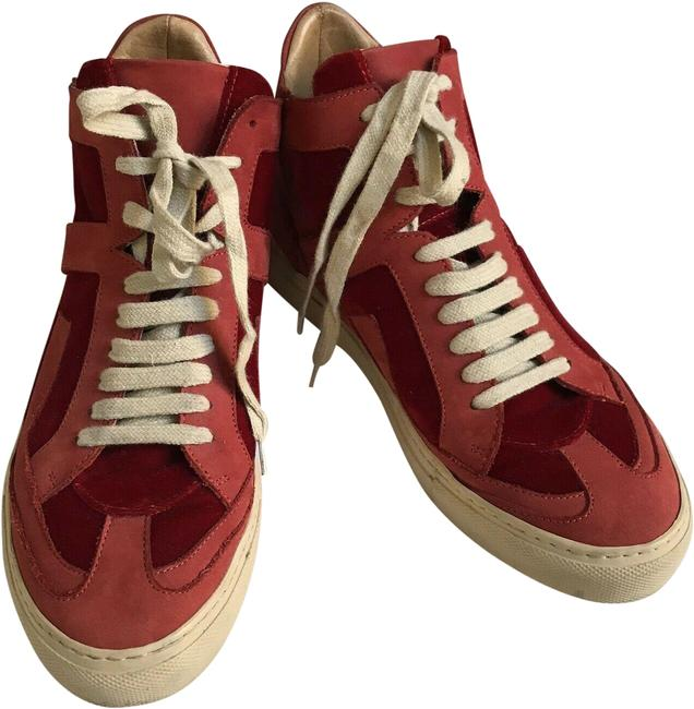 Item - Red Mid Top Sneakers Size EU 37 (Approx. US 7) Regular (M, B)