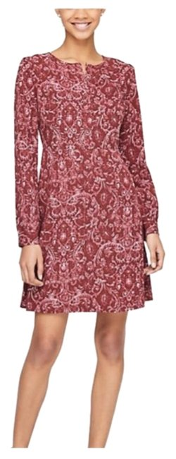 Ann Taylor Loft Red The Floral Flare Shirtdress Mid Length
