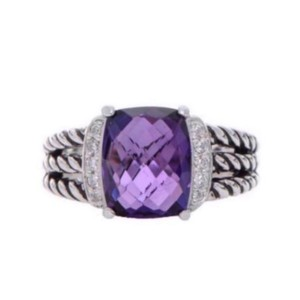 David Yurman Petite Wheaton Amethyst & Diamond