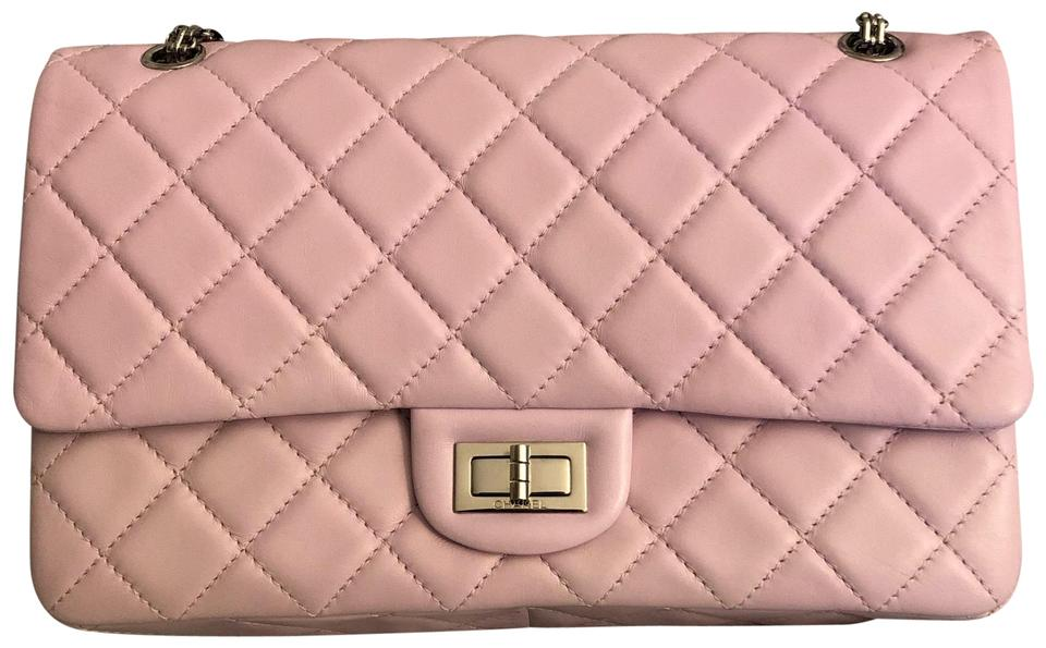 e172292b0d39 Chanel 2.55 Reissue Quilted Pink Lambskin Leather Shoulder Bag - Tradesy