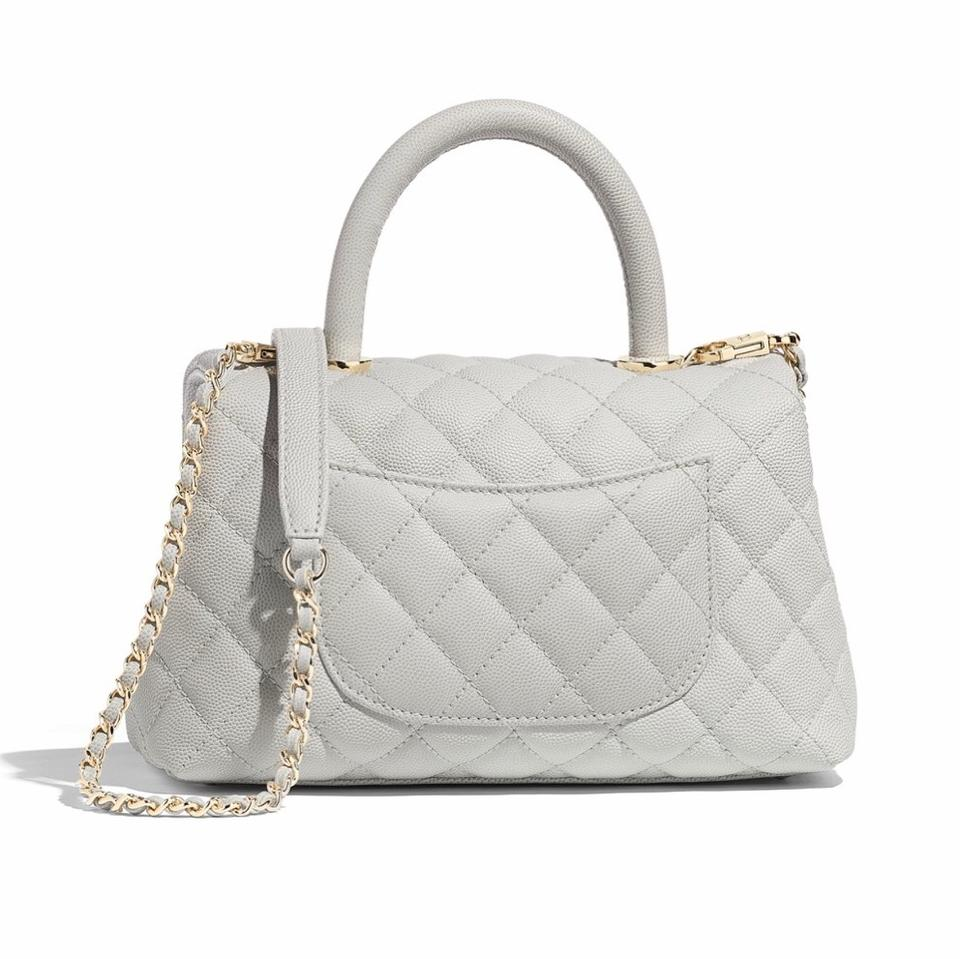 583b62f60d617a Chanel Coco Handle Mink Light Gray Leather Satchel - Tradesy