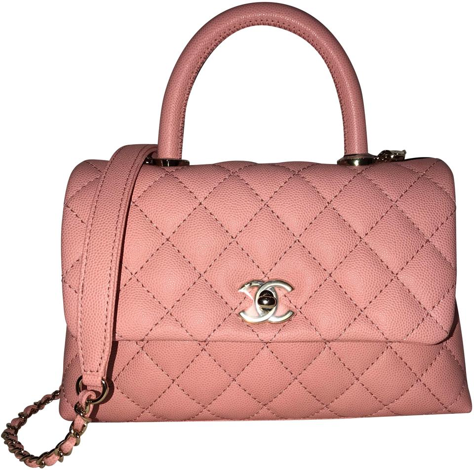 e084e53336ec Chanel Coco Handle Mini Pink Leather Satchel - Tradesy