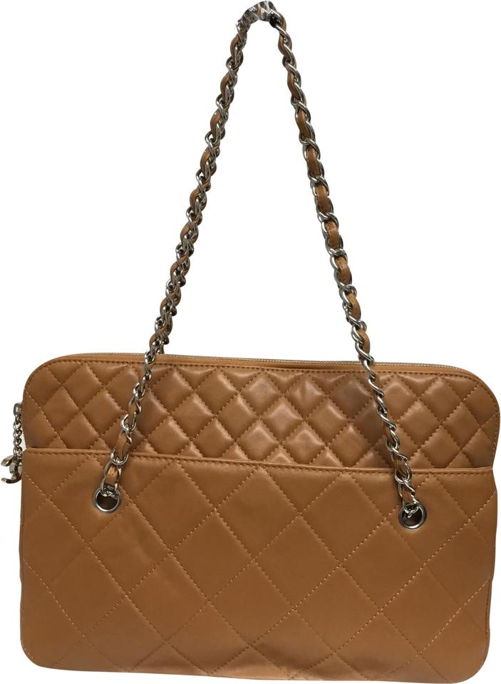 602e9c14993a Chanel Diamond Quilted Tote Caramel Leather Shoulder Bag - Tradesy