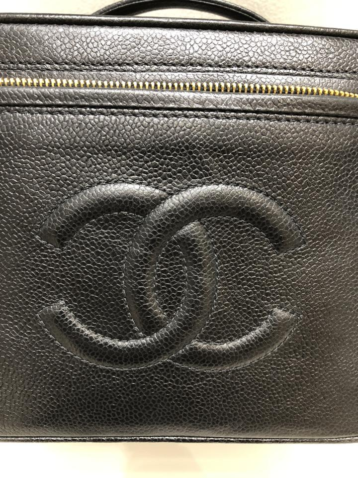 548286c8e113 Chanel Black Vanity Case Vintage Timeless Caviar Small Cosmetic Bag -  Tradesy