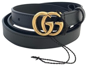 5fe515e9022a Gucci Leather belt with Double G buckle size 100